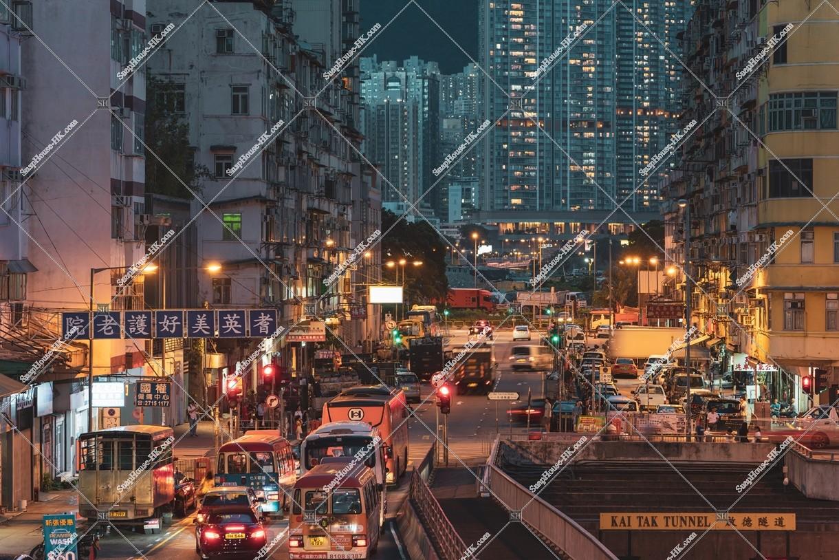 馬頭角の街並みの夜景 その 香港の写真素材なら Snaphouse Hk 香港写真素材屋