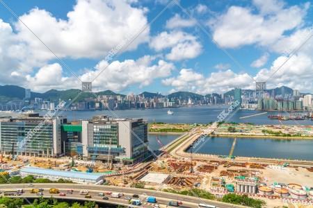 啟德と香港島の風景 その①