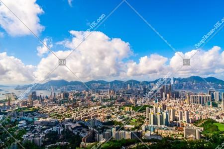 獅子山から見る香港島と九龍半島の風景 その①