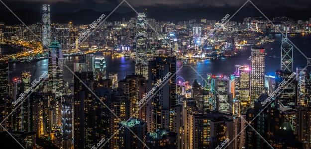 ヴィクトリア・ピークから見る香港の夜景 その①