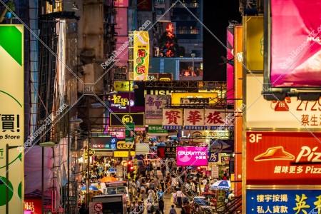 旺角 西洋菜街 夜の街並みと人々 その㉔