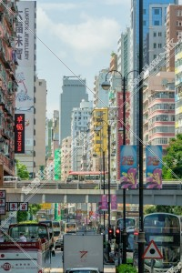 油麻地 彌敦道(ネイザンロード)の街並みの風景 その㉔
