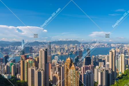ヴィクトリア・ピークから見る香港の風景 その⑦