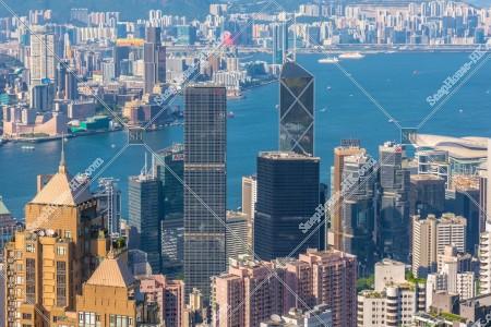 ヴィクトリア・ピークから見る香港の風景 その⑨