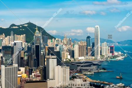 香港島 セントラル(中環)~湾仔(灣仔)のスカイラインビュー その⑧