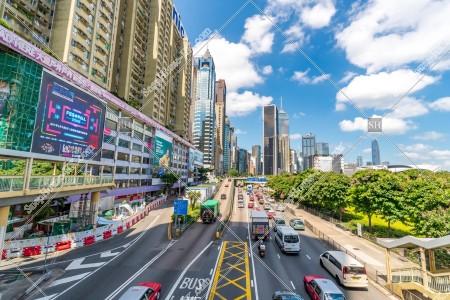 香港島 告士打道の風景