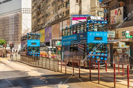 銅鑼灣の街並みの風景と香港トラム その④