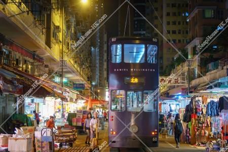 北角 春秧街の商店街と香港トラム その④
