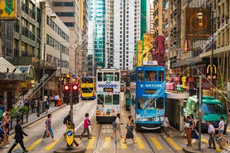 上環 德輔道中の街並みと香港トラム その⑦