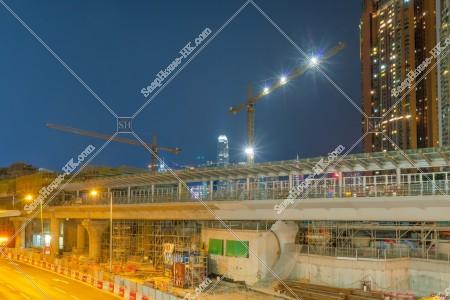 夜の建設中の西九龍駅 その⑥
