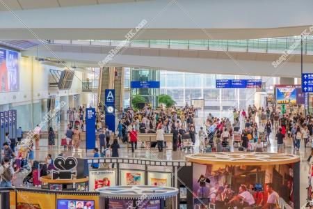香港国際空港 ターミナル1 到着ロビー その①
