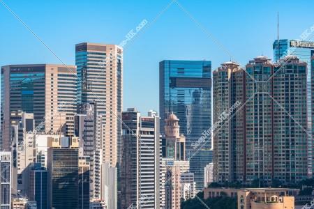 銅鑼灣の高層ビル群の風景 その②