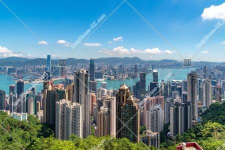 ヴィクトリア・ピークから見る香港の風景 その⑪