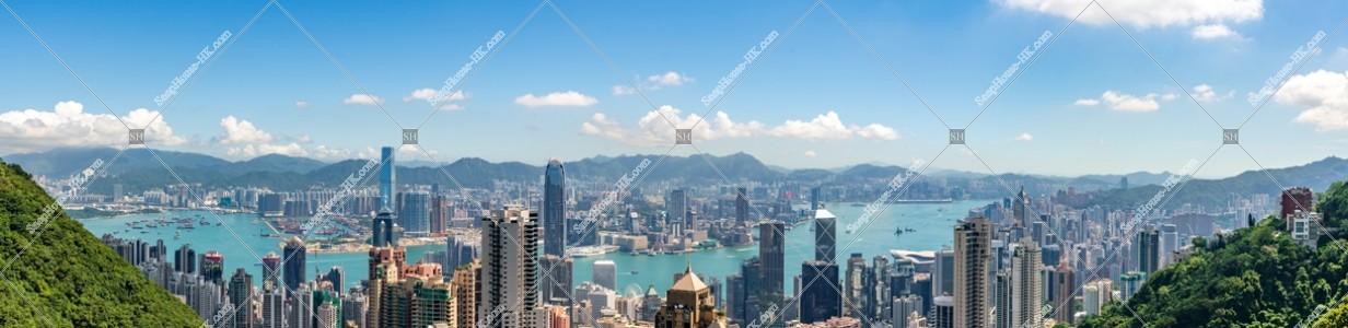 ヴィクトリア・ピークから見る香港のパノラマ風景 その④
