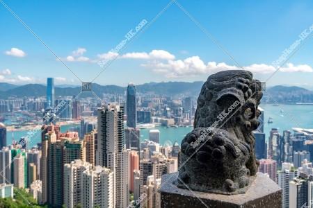 ヴィクトリア・ピーク太平山獅子亭から見る香港の風景 その①