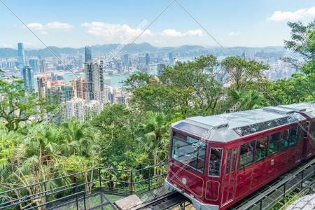 香港の都市風景とピークトラム その①