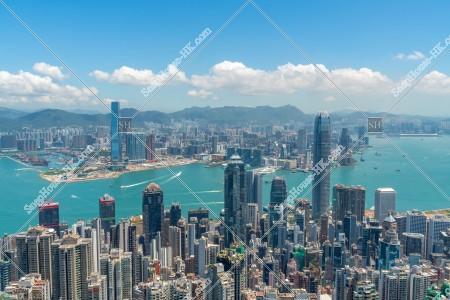 ヴィクトリア・ピークから見る香港の都市の風景 その①