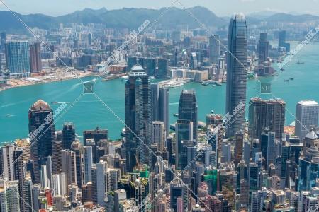 ヴィクトリア・ピークから見る香港の風景 その⑭