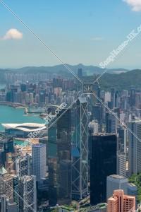 ヴィクトリア・ピークから見る香港島の都市風景 その③
