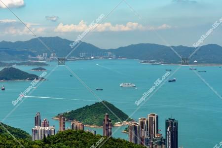 香港島から見る西博寮海峽の風景 その④