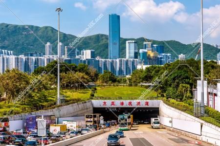 東区海底トンネル(東區海底隧道)と香港島の風景 その①