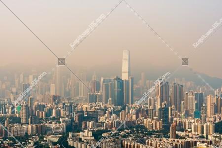 獅子山から見る香港の都市風景 その①