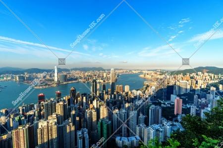 ヴィクトリア・ピークから見る香港の都市の風景 その⑤