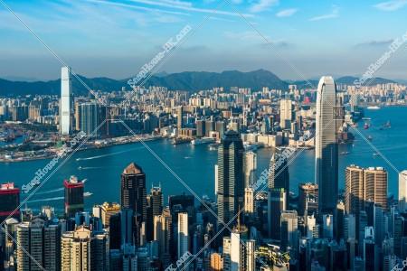 ヴィクトリア・ピークから見る香港の都市の風景 その⑧