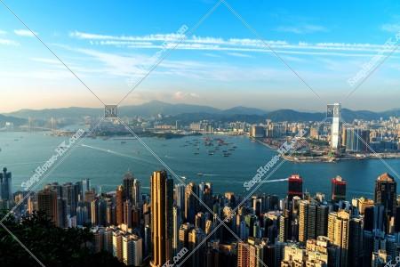 ヴィクトリア・ピークから見る香港の都市の風景 その⑫