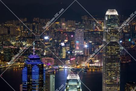 ヴィクトリア・ピークから見る香港の都市の夜景 その②