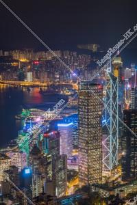 ヴィクトリア・ピークから見る香港島の夜景 その②