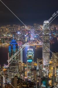 ヴィクトリア・ピークから見る香港の都市の夜景 その⑤