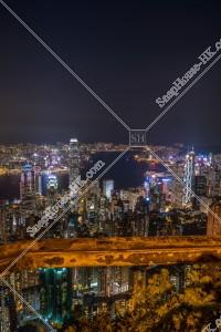 ヴィクトリア・ピークから見る香港の都市の夜景 その⑥