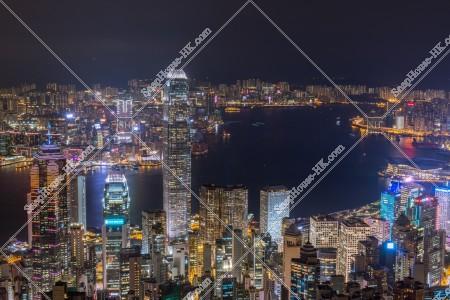 ヴィクトリア・ピークから見る香港の都市の夜景 その⑦