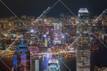 ヴィクトリア・ピークから見る香港の都市の夜景 その⑧