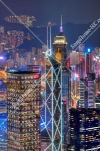 ヴィクトリア・ピークから見る香港島の夜景 その③
