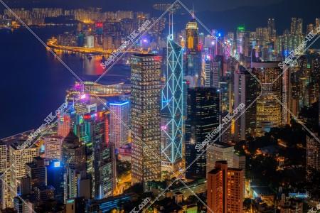 ヴィクトリア・ピークから見る香港島の夜景 その⑤