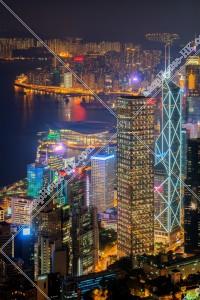 ヴィクトリア・ピークから見る香港島の夜景 その⑥