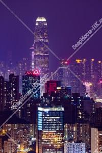 香港島の高層ビル群の夜景 その③