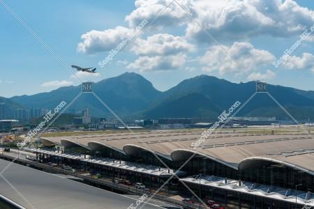 香港国際空港 スカイデッキから見るターミナル1 その①