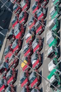 香港国際空港 赤タクシー(市区タクシー)と緑タクシー(新界タクシー) その④