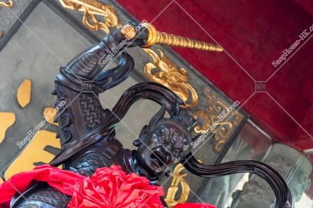 黃大仙祠 王靈官殿の王靈官像