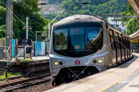 MTR 東鉄線(東鐵綫) 大学(大學)駅に停車する列車