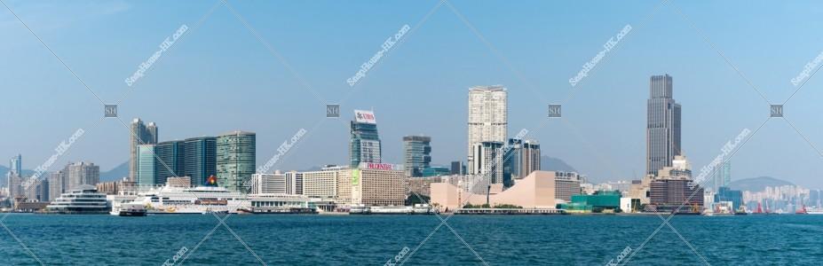 尖沙咀の昼 パノラマ写真