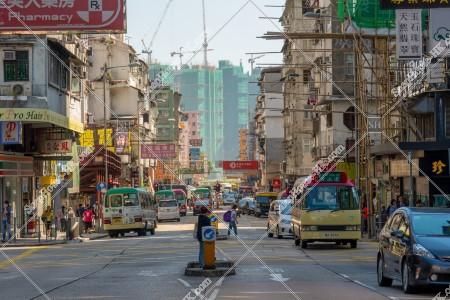九龍城 交通量が多い時の衙前圍道