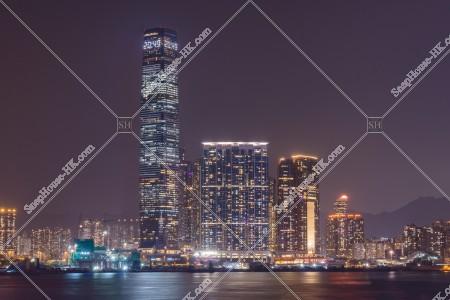 香港島から見る西九龍 [夜景]