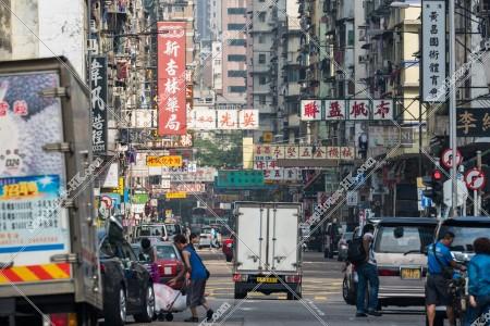 油麻地 朝の上海街の様子