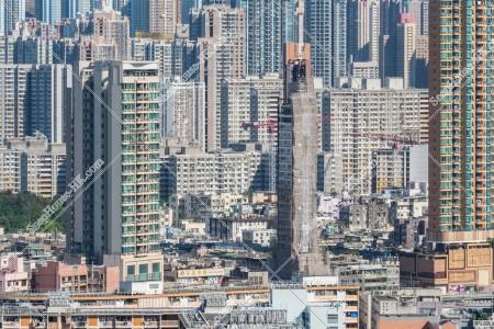 九龍城の建物の風景