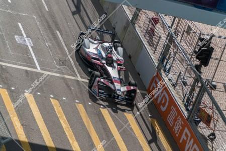 香港フォーミュラ(HK Formula E) コースを走行するF1カー その①