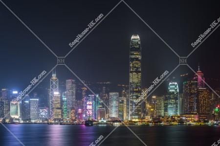 尖沙咀から見るセントラル(中環)の夜景 その②